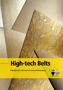 High-tech Belts - High-performance coated abrasives for the boardmaking industry