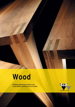 Wood - Finishing systems for solid wood, wood-based materials and varnishes